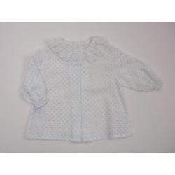 PBI-2067-Celeste fabricantes de ropa de bebe Blusa plumeti