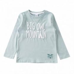 Camiseta big owl mountain con detalle de cara buho algodón 100% - Newness - JBI67279