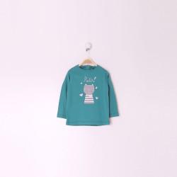 Camiseta Manga Larga Bebe Niña Color Capri