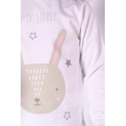 Camiseta Manga Larga Bebe Niña Color Blanco