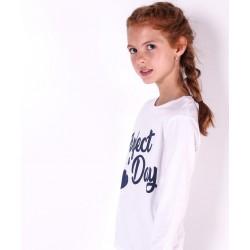Camiseta Niña Ml Cuello Redondo Color Blanco