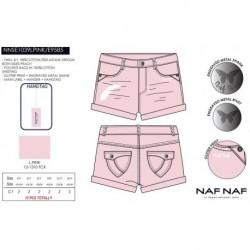 Pantalon corto Naf Naf -NNSE1039LPINK