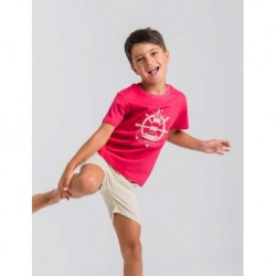 Camiseta niño roja faro-LOV-1021060505-La Ormiga