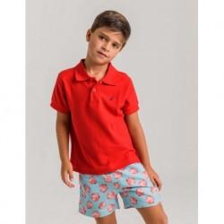LOV-1021100501 La Ormiga ropa infnatil al por mayor Polo rojo