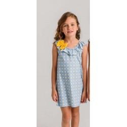 Vestido lycra flores amarillas pequeñas (sin goma)-LOV-1020312309-La Ormiga