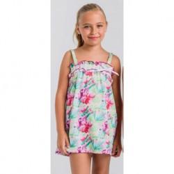 Vestido lycra flores hawaianas (frunces)-LOV-1020330309-La Ormiga