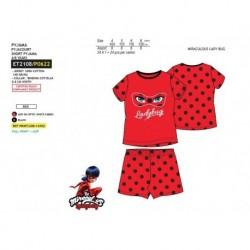 Pijama corto 100% algodón-SCFV-ET2108-LADY BUG
