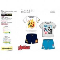 Conjunto camiseta mc & short 100% algodón-SCFV-ET1261-AVENGERS C