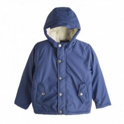 Abrigo gabardina forrada de lana gorda