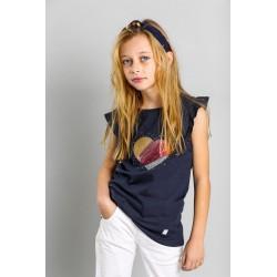 Camiseta mc niña-SMV-20519-UNICO-Street Monkey almacen