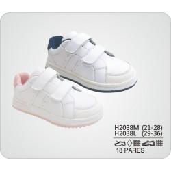 DKV-H2038L calzado de infantil al por mayor Deportivas lisas