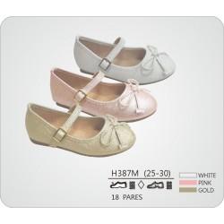 DKV-H387M calzado de infantil al por mayor Francesitas acabado