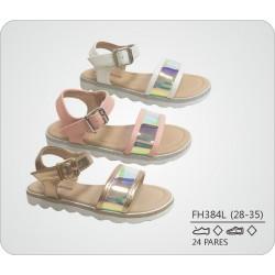 DKV-FH384L calzado de infantil al por mayor Sandalias planas