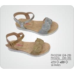 DKV-FH321L calzado de infantil al por mayor Sandalias planas