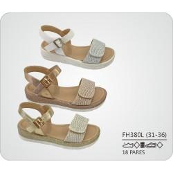 DKV-FH380L calzado de infantil al por mayor Sandalias tira
