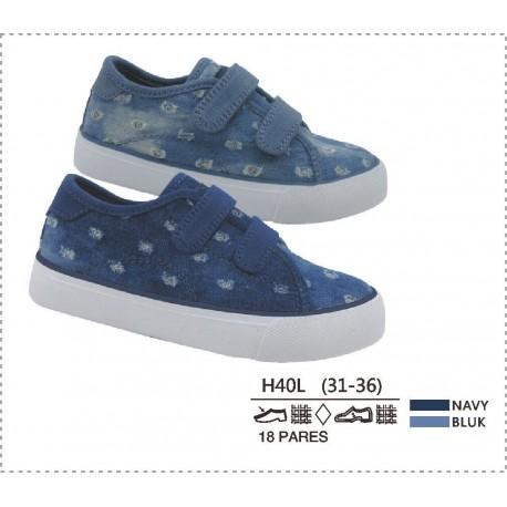 DKV-H40L calzado de infantil al por mayor Lonetas acabado jean