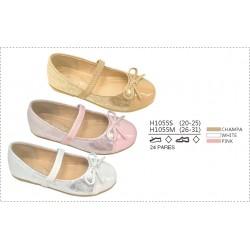 DKV-H1055S calzado de infantil al por mayor Francesitas doble