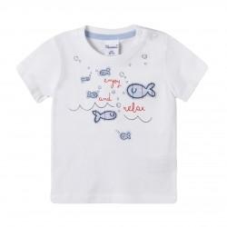 Camiseta parches de peces almacen mayorista de ropa infantil