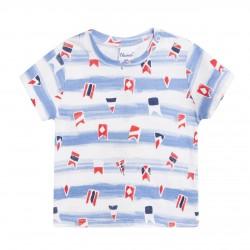 Camiseta estamapada de flechas almacen mayorista de ropa