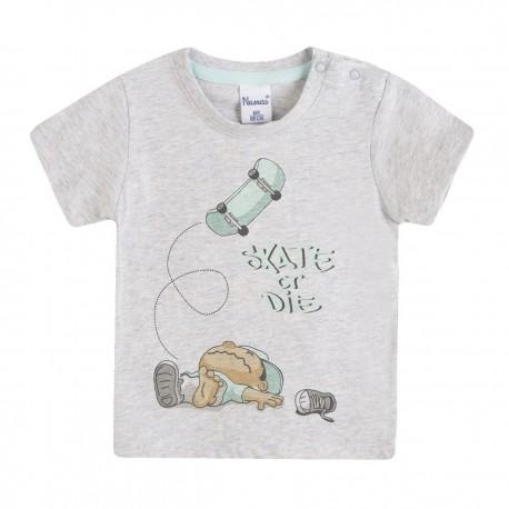 BBV69075 Comprar ropa al por mayor Camiseta niño con patinete