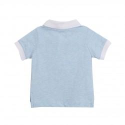 Polo azul con bolsillo pez almacen mayorista de ropa infantil