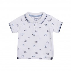 Polo blanco sonrisas almacen mayorista de ropa infantil, ropa
