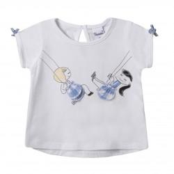 BGV69593 Comprar ropa al por mayor Camiseta niñas en columpio