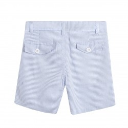 Bermuda rayas finas azules almacen mayorista de ropa infantil