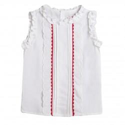 Blusa de fiesta con picunela rojo almacen mayorista de ropa