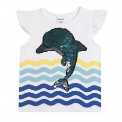 Camiseta delfin de lentejuelas en el mar almacen mayorista de