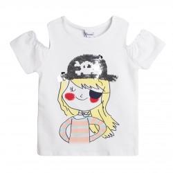 Camiseta mangas abiertas niña pirata almacen mayorista de ropa
