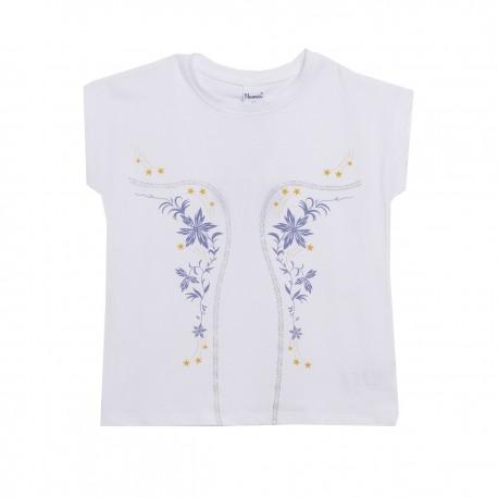 Camiseta con estampado en malva almacen mayorista de ropa