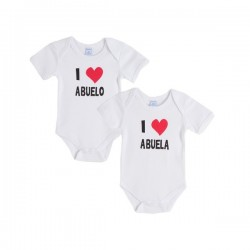 Bodies love abuela/abuelo pack de 2 pcs