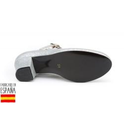 Zapato flamenca glitter hebilla-ANGV-305-Angelitos almacen