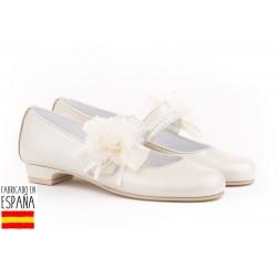 Bailarina flor tul&perlas ceremonia-ANGV-997-Angelitos almacen