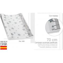 Cambiador acolchado plastificado 80 cms mod estrella-IBV-863-Interbaby