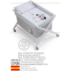 Minicuna +textil bco mod amigos-IBV-91222-Interbaby almacen