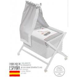 Minicuna bco+textil+dosel mod pirata-IBV-91916-Interbaby