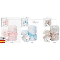 Set peluche +manta oso estrella-IBV-PE005-Interbaby