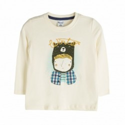Camiseta niño en camisa - Newness - JBI06228 mayorista de ropa