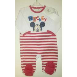 Pijama tipo pelele manga larga Mickey