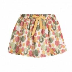 Comprar ropa de niño online Falda fiesta con estampado dorado -