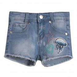 Pantalon short vaquero estrella corazon y medusa almacen