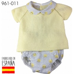 PCV-961-011-AMARILLO venta al por mayor de ropa bebe Conjunto