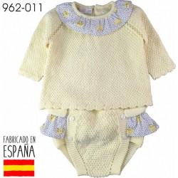 PCV-962-011-AMARILLO venta al por mayor de ropa bebe Conjunto