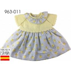 PCV-963-011-AMARILLO venta al por mayor de ropa bebe Vestido
