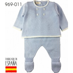 PCV-969-011-CELESTE venta al por mayor de ropa bebe Conjunto