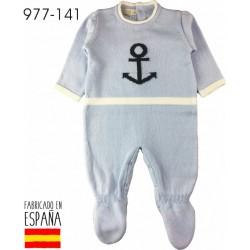 PCV-977-141-CELESTE venta al por mayor de ropa bebe Pelele de