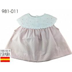 PCV-981-011-BEIGE venta al por mayor de ropa bebe Vestido bebe