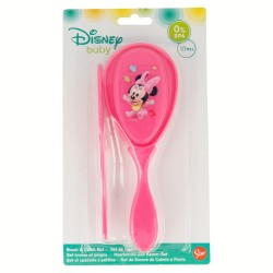 Set cepillo y peine disney minnie mouse - disney - baby paint pot-STI-39900-Disney